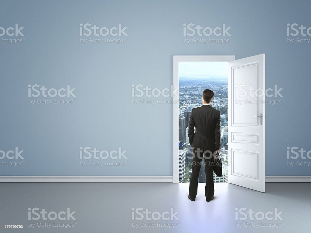 door in city royalty-free stock photo