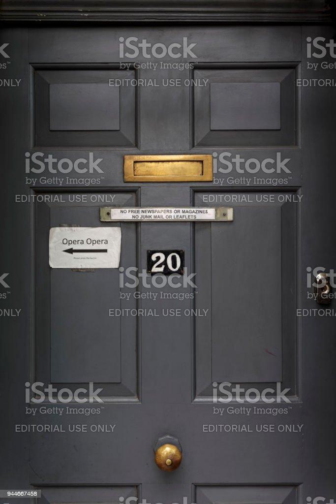 Door in London stock photo