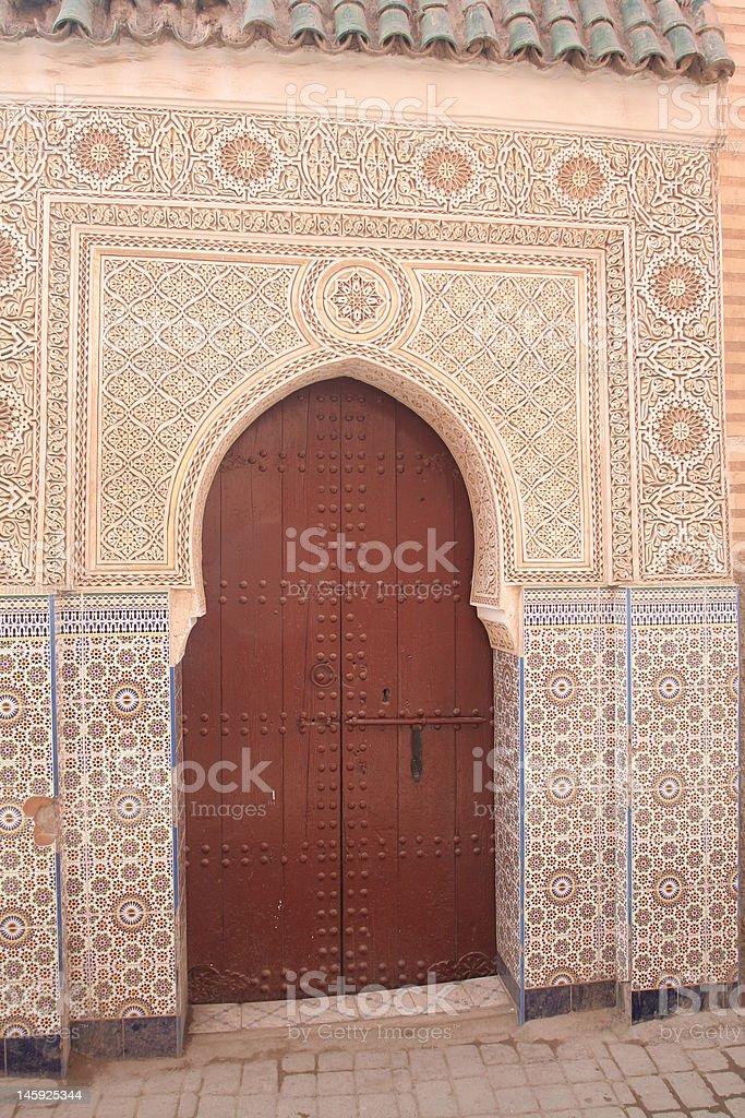 Door in Marrakech royalty-free stock photo