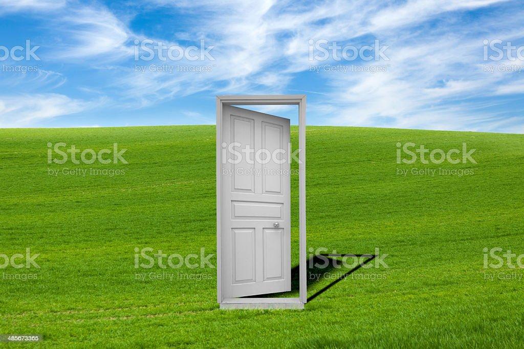 Door in Nature stock photo