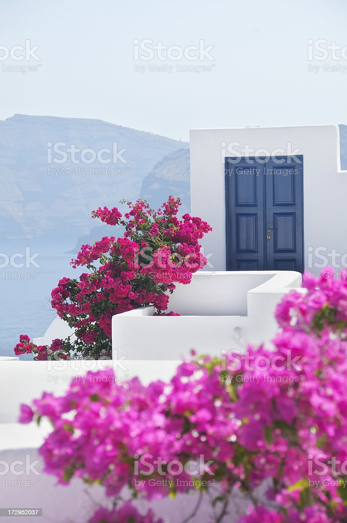Door in Oia, Santorini, Greece royalty-free stock photo