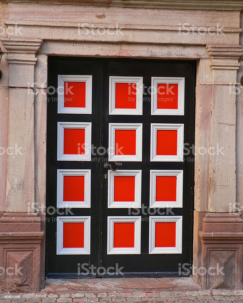 Door in Old Facade royalty-free stock photo