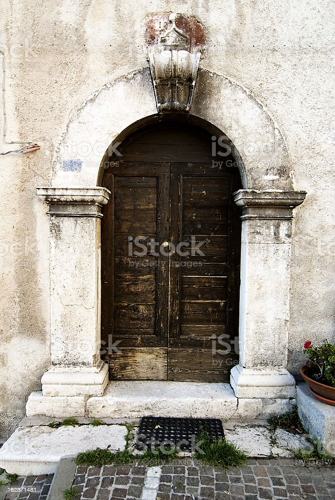 door in old town royalty-free stock photo