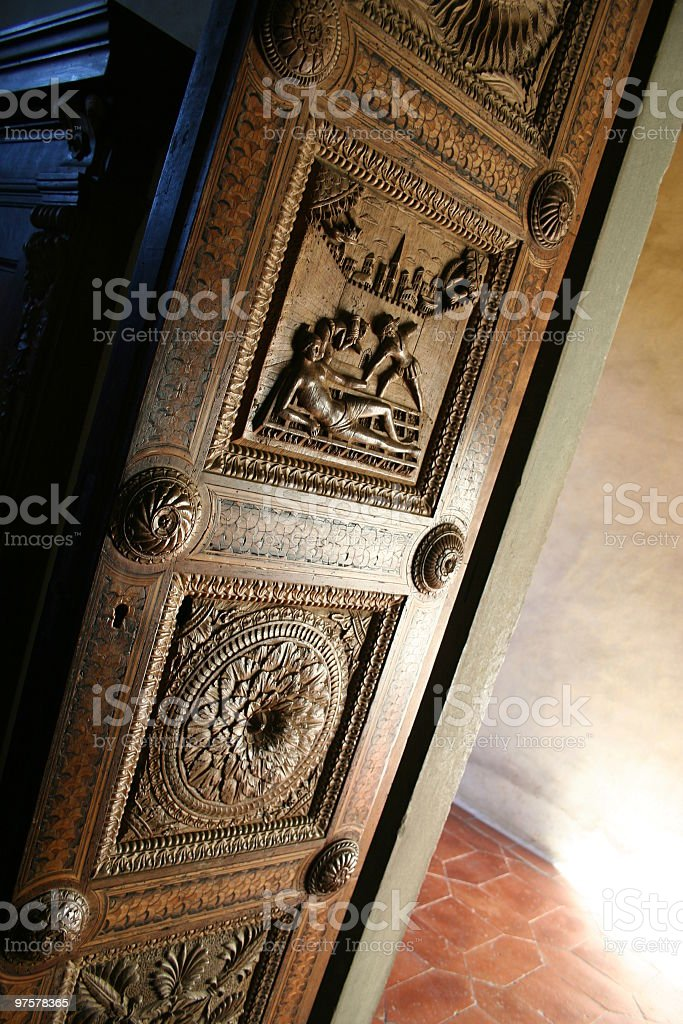 Door in the Carthusian Monastery Florence royalty-free stock photo