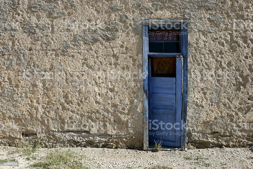 Tür in der Wüste Lizenzfreies stock-foto