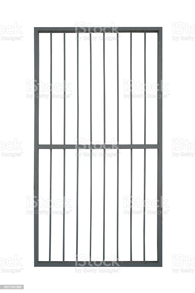 door iron cage isolate on white background stock photo