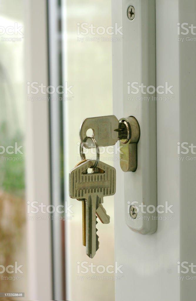 Door Keys - Lock it Up royalty-free stock photo