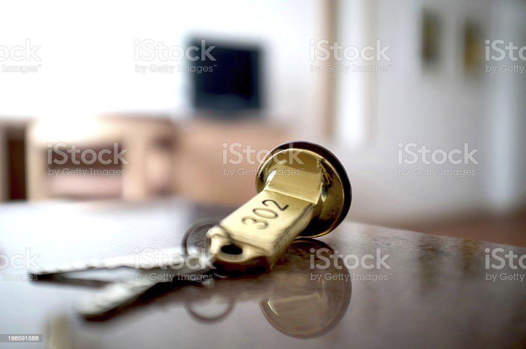Door keys stock photo