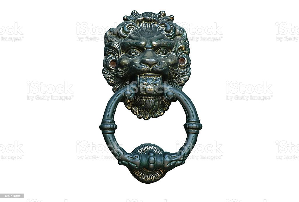 Door knocker, isolated stock photo