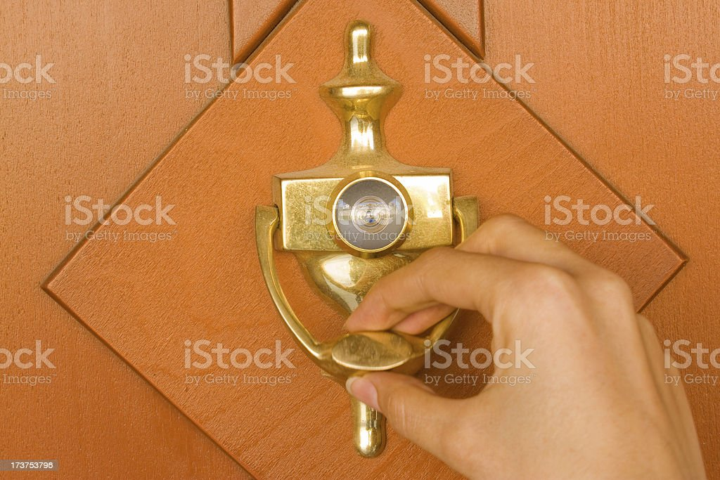 Door Knocker royalty-free stock photo