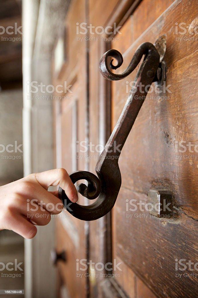 Door Knocker With Hand royalty-free stock photo
