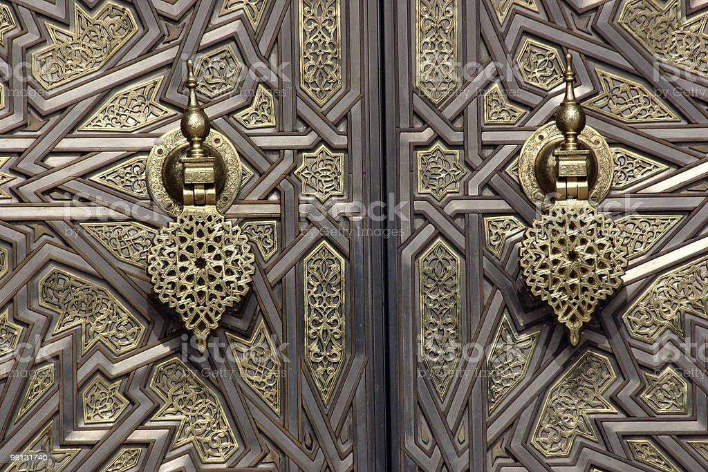 Door Knockers at the Royal Palace royalty-free stock photo