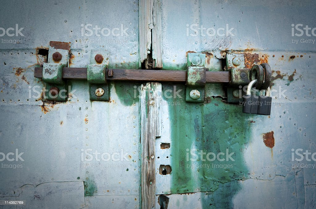 door latch royalty-free stock photo
