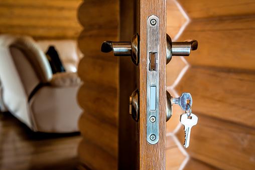 door lock and open door
