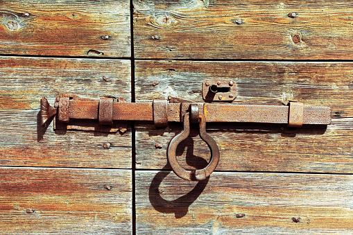 door lock from metal