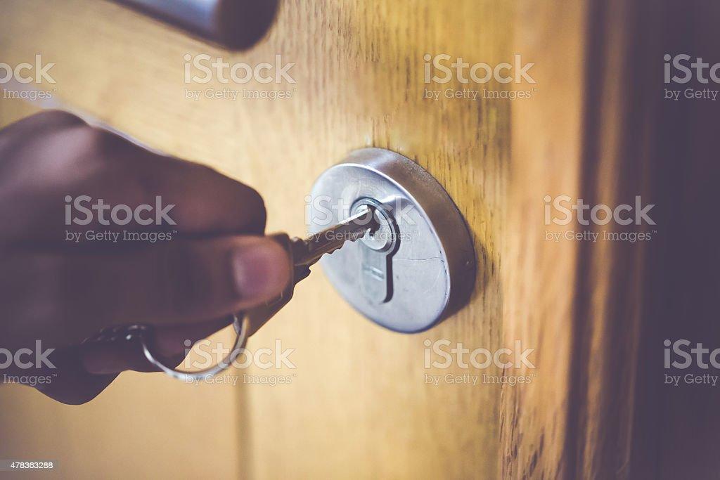 Türverschluss & Key - Lizenzfrei 2015 Stock-Foto