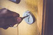 istock Door Lock & Key 478363288