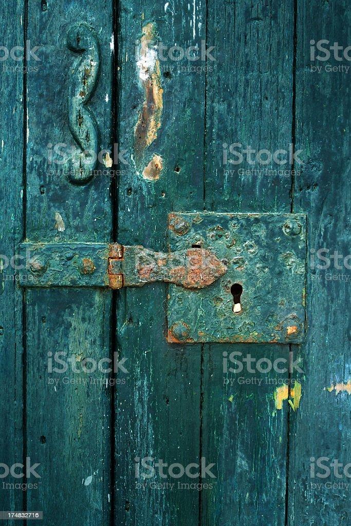 Door lock royalty-free stock photo