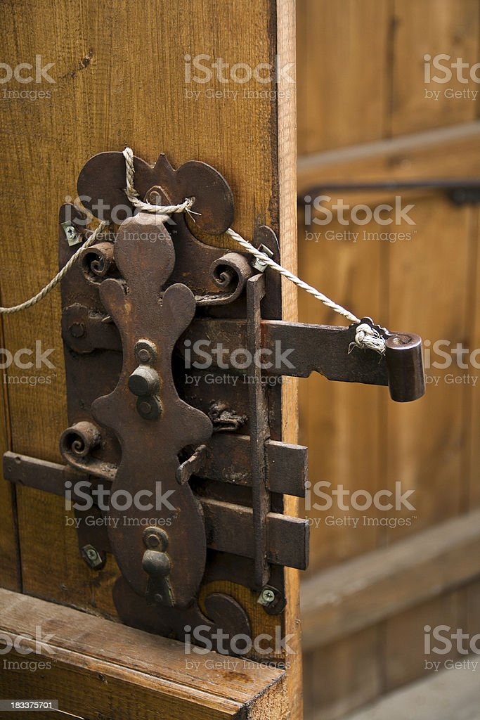 Door lock royalty-free stock photo
