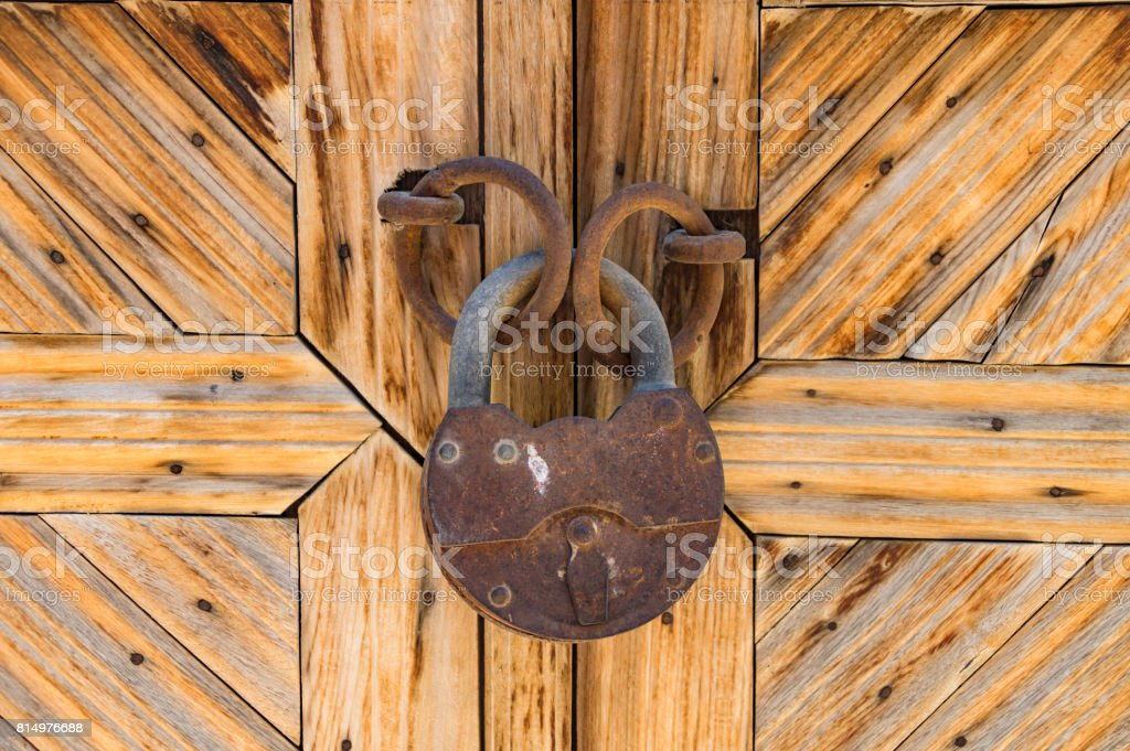 Kapı kilidi stok fotoğrafı