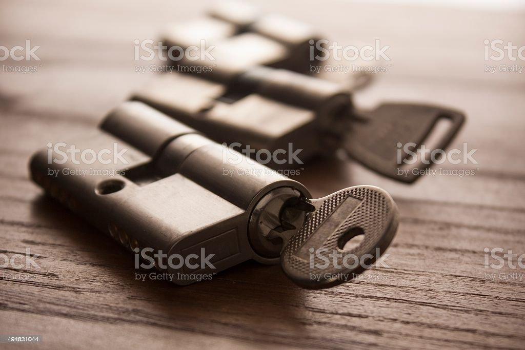 Türverschluss mit Schlüssel – Foto