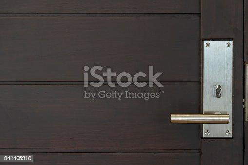 istock Door lock with luxury room 841405310