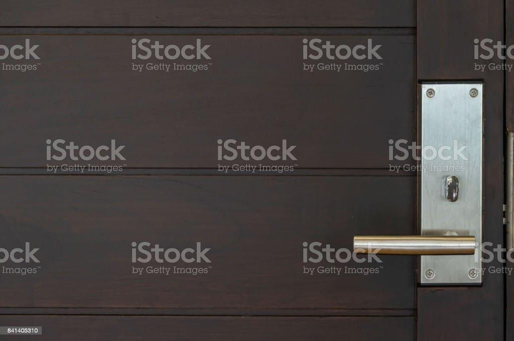 Door lock with luxury room stock photo