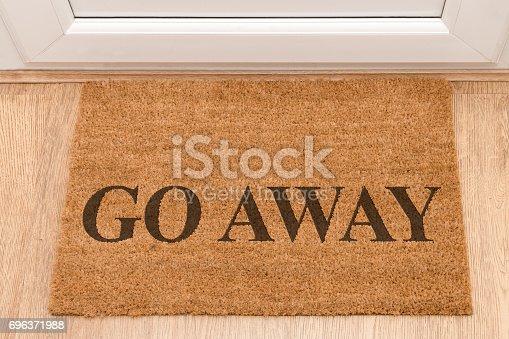 Door mat at front door