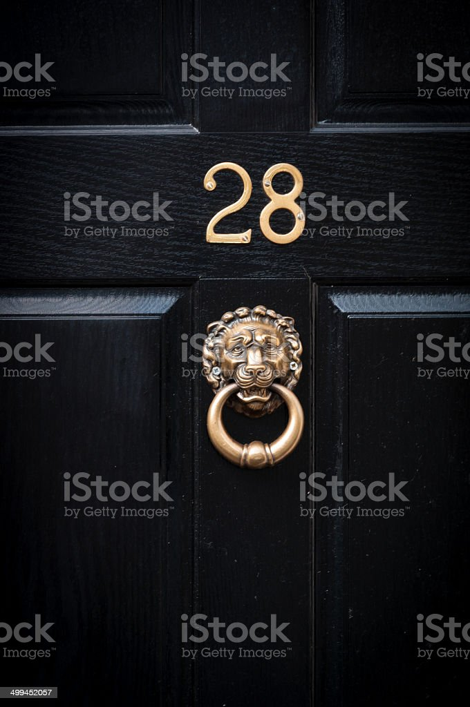Door number 28 stock photo