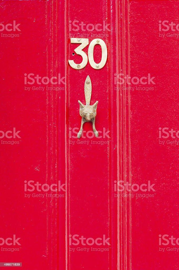 Número de la puerta 30 - foto de stock