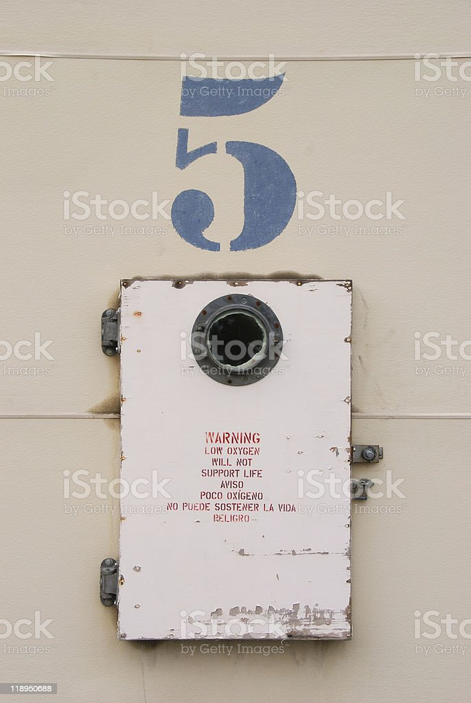 Door Number 5 royalty-free stock photo
