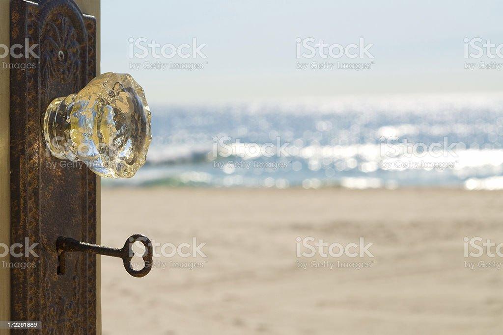 Door Number Three...Vacation stock photo