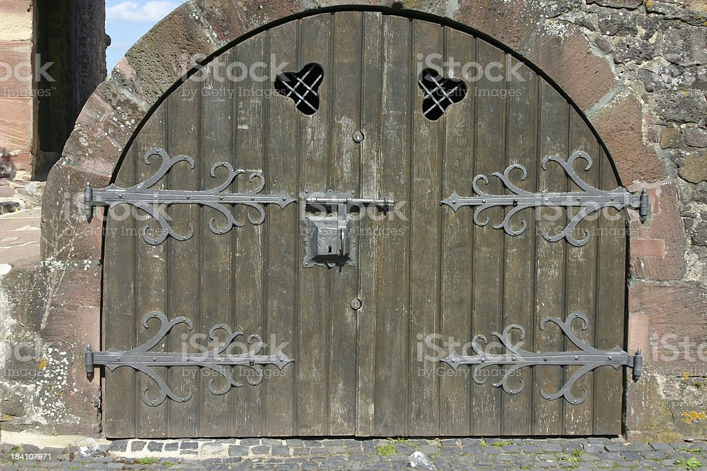 Door of a castle royalty-free stock photo