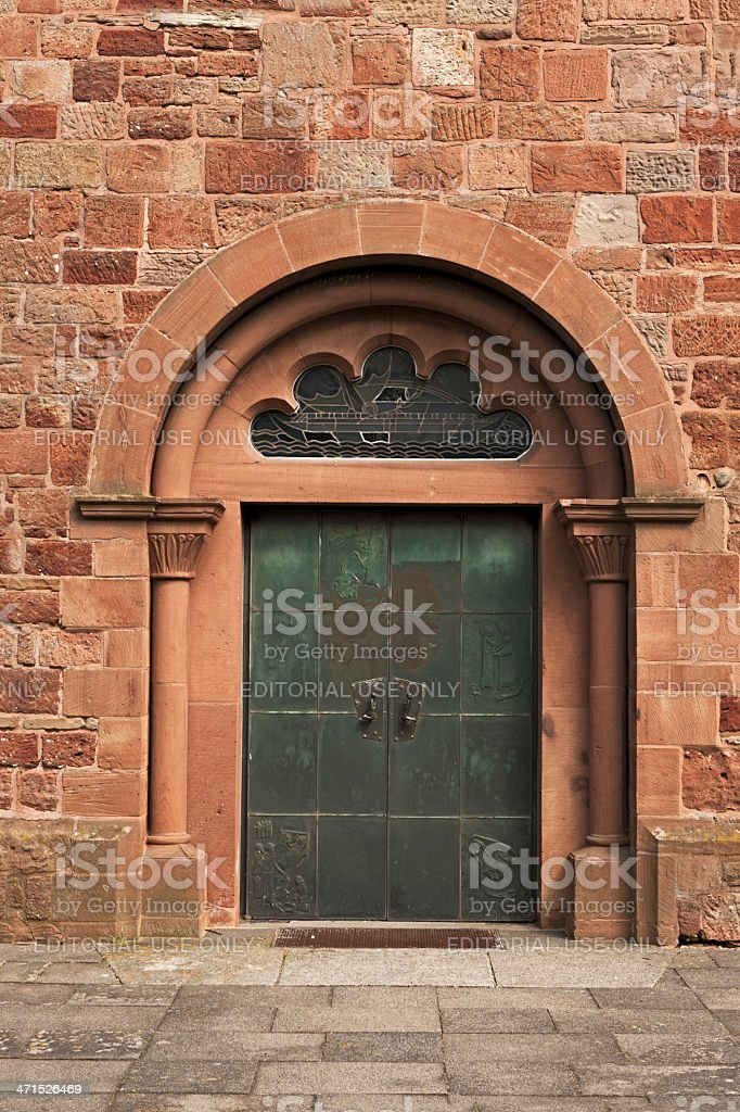 Door of a Church stock photo