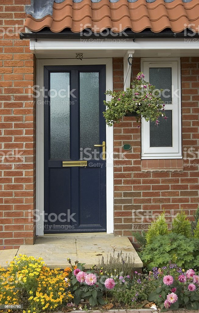 Door of a new house royalty-free stock photo