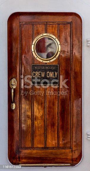 door of a old sailing ship. old sailing ship