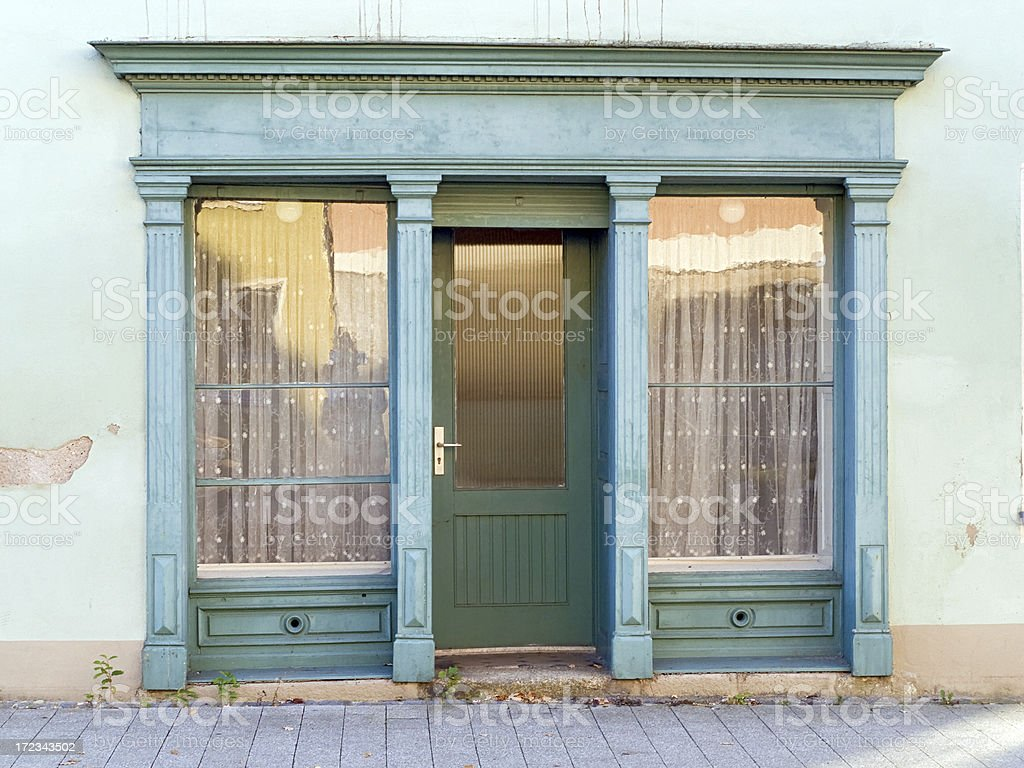 Door of an old shop stock photo