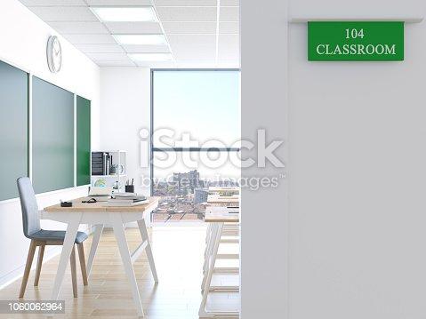 istock Door of classroom 1060062964