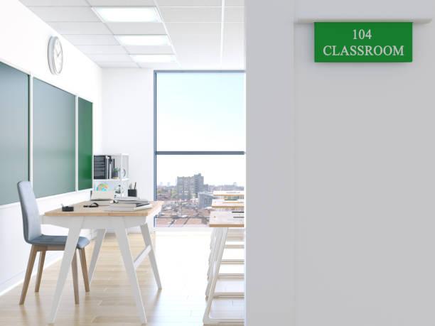 Tür des Klassenzimmers – Foto