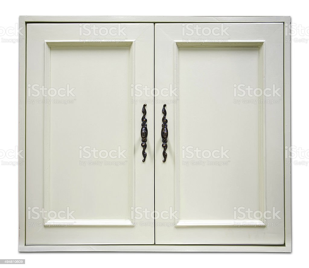 door of cupboard stock photo