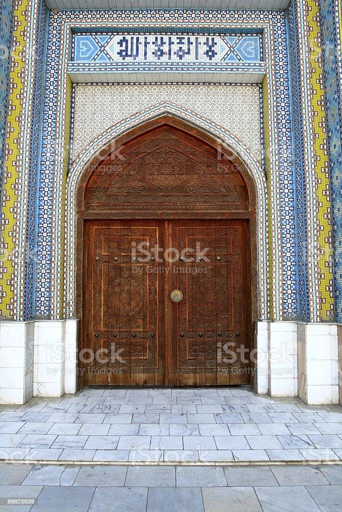 Door of mosque royalty-free stock photo