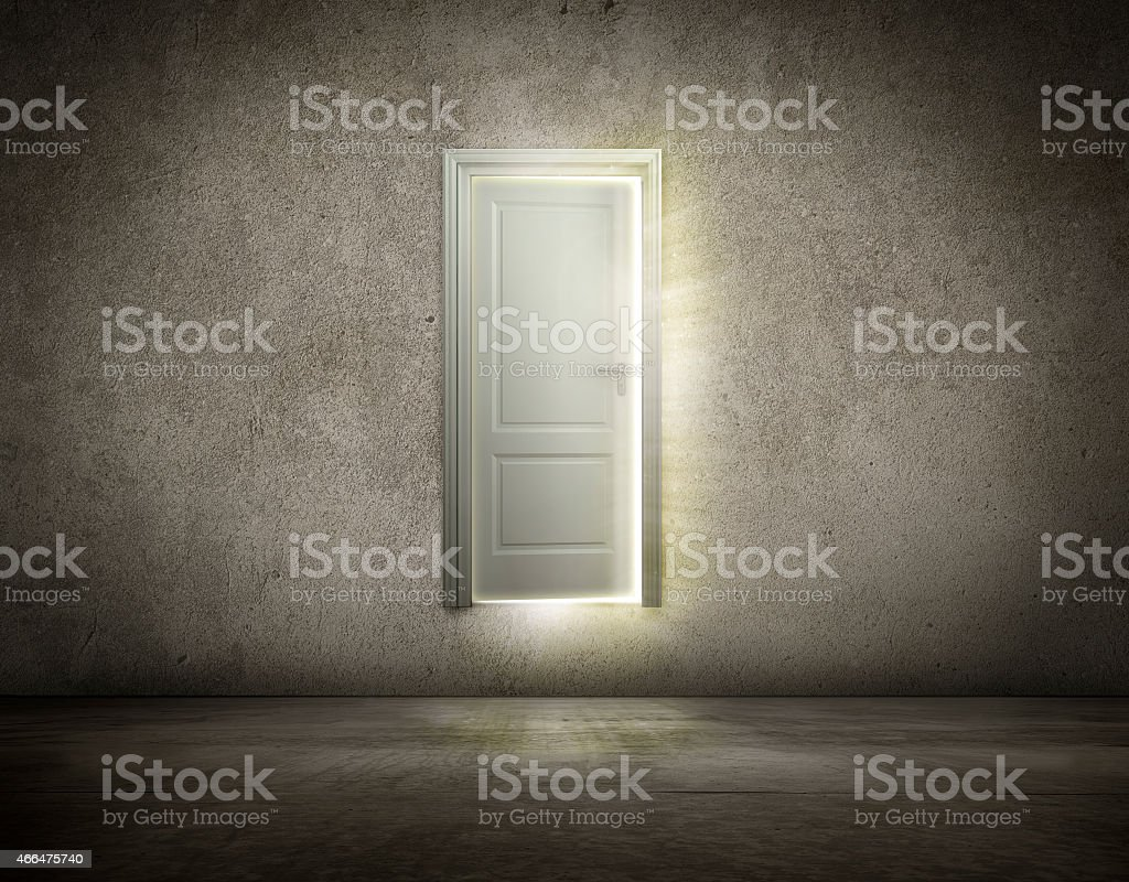 Door open to new opportunity stock photo