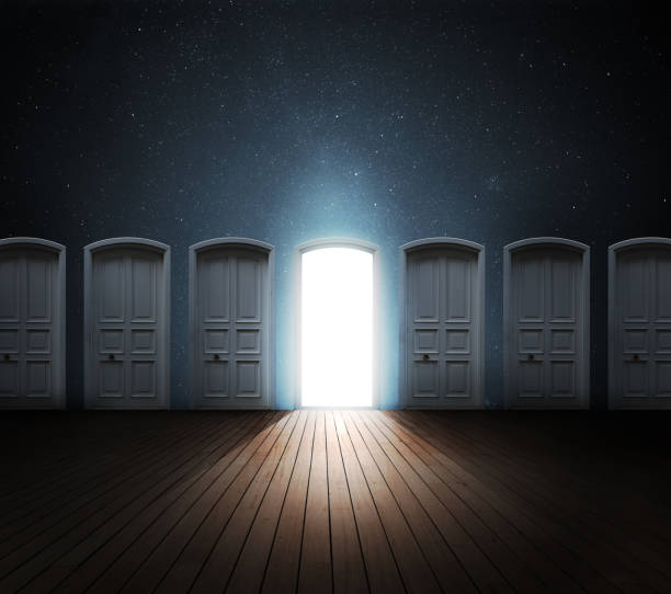door opened light - enigma images stock photos and pictures