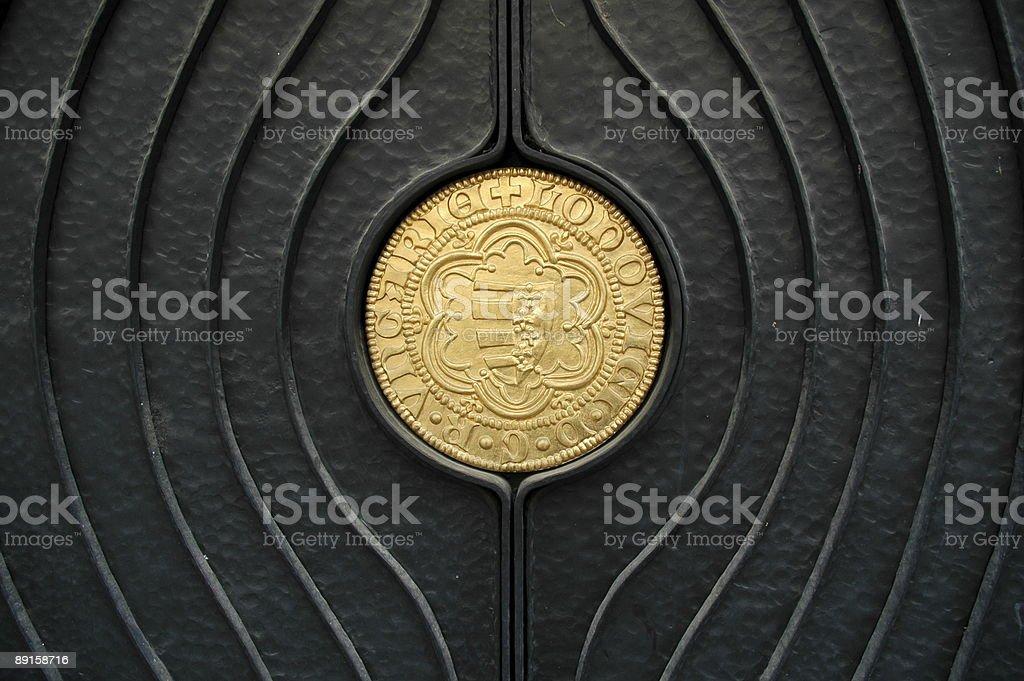 Door, Pecs, Hungary. royalty-free stock photo