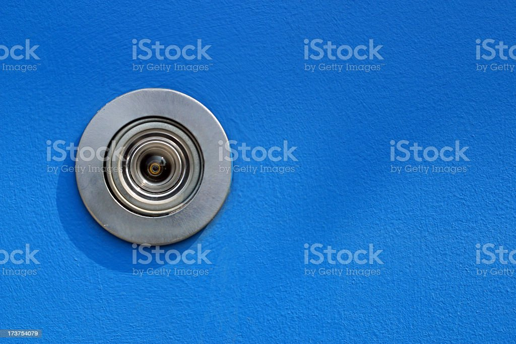 Door Peep Hole stock photo