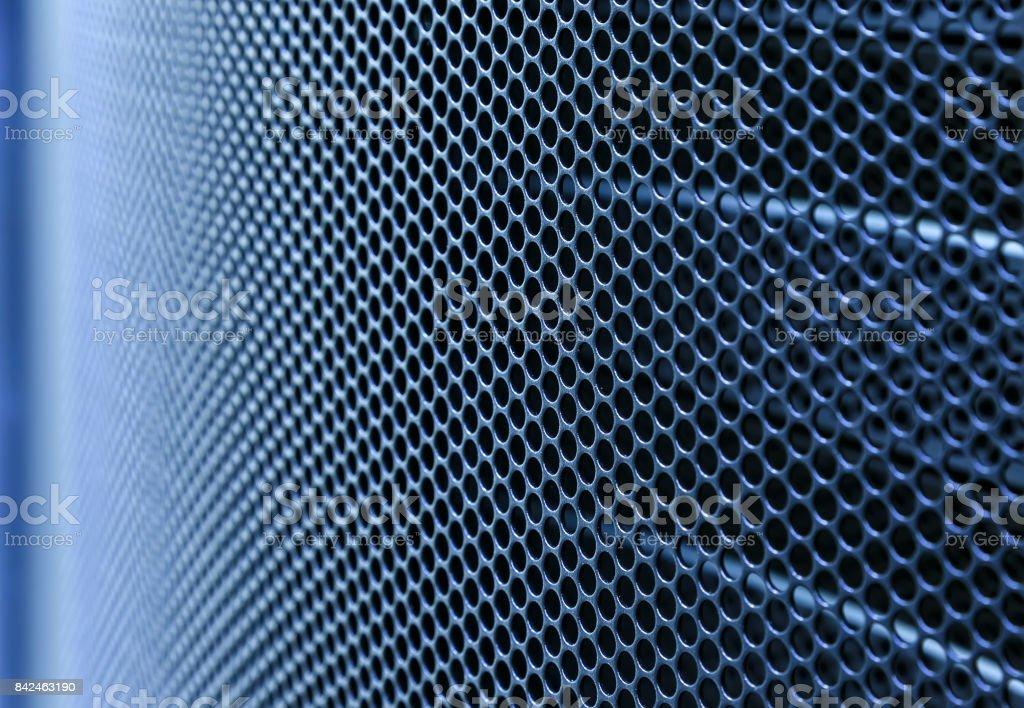 Door perforated of server rack cabinet. stock photo
