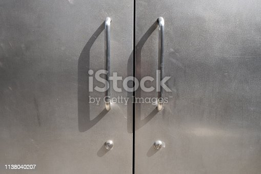A stainless door