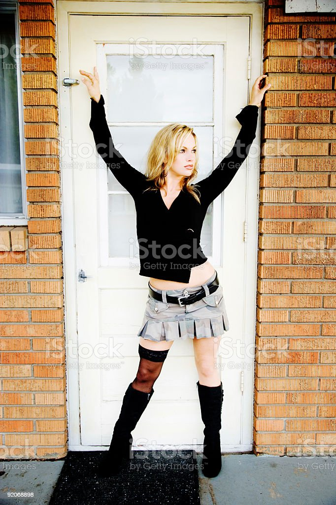 Door Portrait royalty-free stock photo