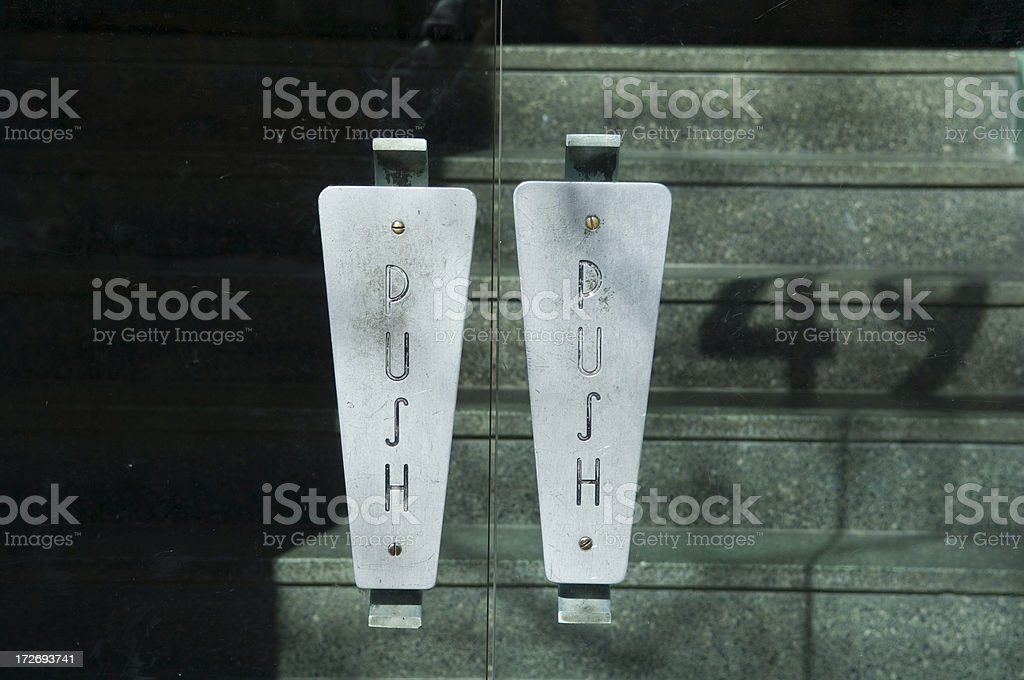 Tür push - Lizenzfrei Architektur Stock-Foto