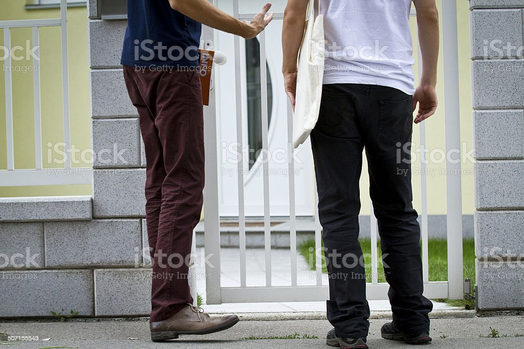 Door sales stock photo